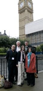 Ray, Steve, Sarah, Bruce and Amy (ME!) with Big Ben