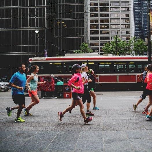 Crushing the shakeout run. Photo courtesy of Nike.