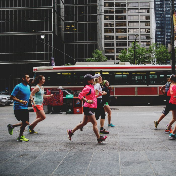 Crushing the shakeout run. Photo courtesy of Nike.